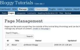 The importance of making static pages for your blog