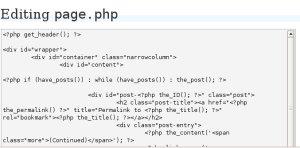 screenshot, wordpress theme editor