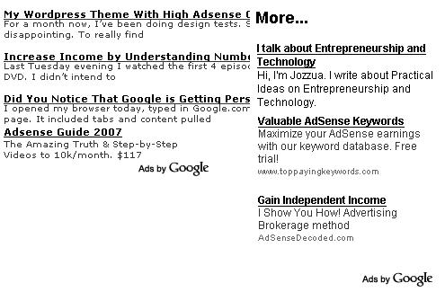 Blending Adsense On Blog