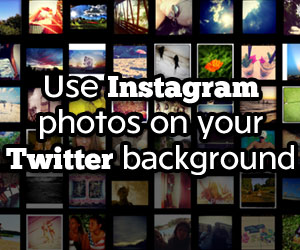 Benefits of turning you Instagram Photos into Twitter Background through InstaBG